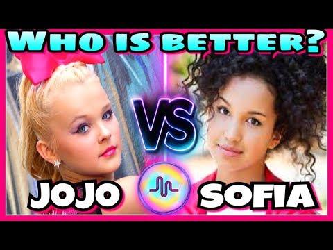 JoJo Siwa VS Sofia Wylie Musical.ly Battle | Famous Girls Best Musically 2017 - Поисковик музыки mp3real.ru