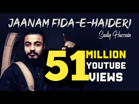 Sadiq hussain|| kalam Jaanam Fida-e-Haideri || 2018|| Official HD || Sufiyana Song