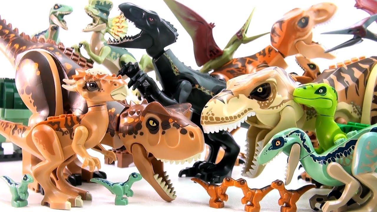 Kleurplaten Dinosaur.All Lego Jurassic World Fallen Kingdom Dinosaur Toys 2018 Indoraptor T Rex Lego Dinosaurs