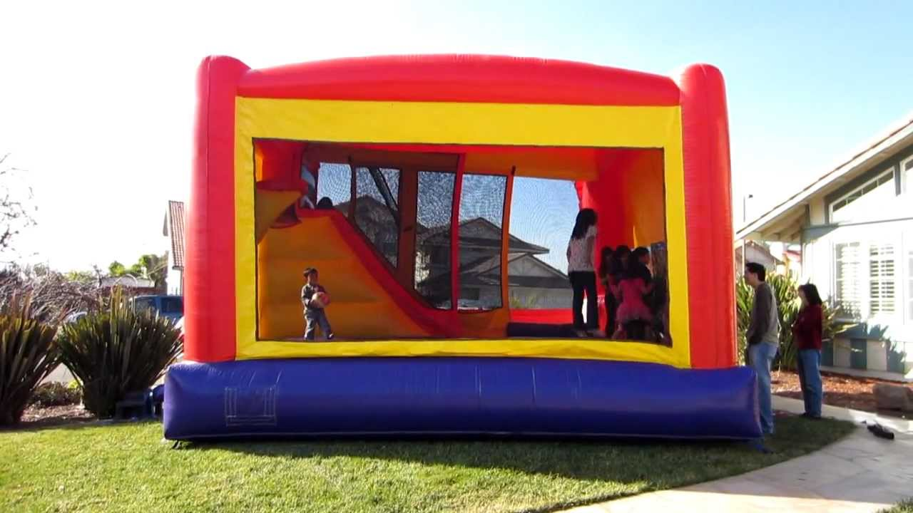 Image result for inside slide bounce house