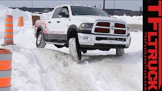 2015 Ram 2500 HEMI Power Wagon Cold Steel on Ice: 3 Locking Differentials Tested