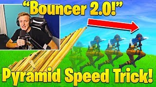 Tfue MINDBLOWN After Finding EVEN FASTER Bhop Trick! (Pyramid Bouncer!)