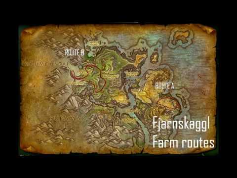 Fjarnskaggl farming route