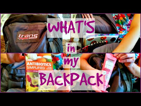 WHAT'S IN MY BACKPACK | Pharmacy School