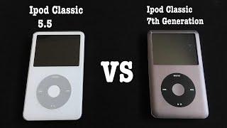 ipod Classic 5.5 vs 7th Generation comparison