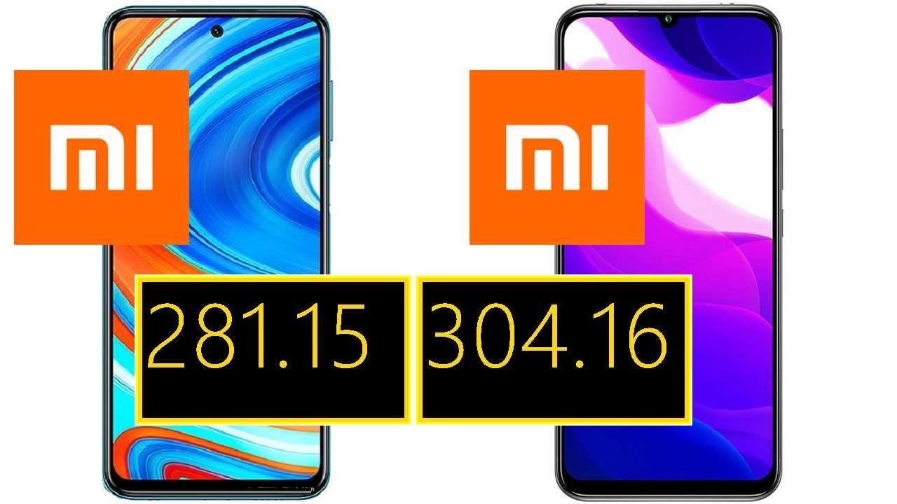 Xiaomi Redmi Note 9 Pro Max vs Xiaomi Mi 10 Lite 5G