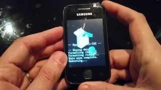 Reset Samsung Galaxy Y S5360/S5369 (Hard Reset)