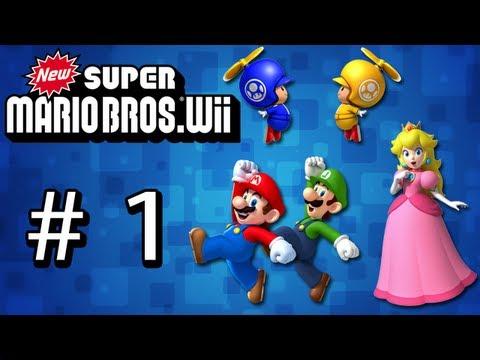 Guia New Super Mario Bros.Wii 2.0 ( # 1 - Mundo 1 - Mapa 1 y 2 )