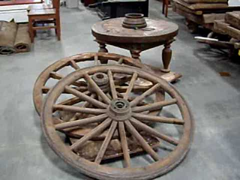 Wagon Wheels And Antique Architectural Features For Sale
