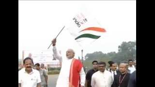 PM Modi flags off & joins 'Run for Unity' on Rashtriya Ekta Diwas