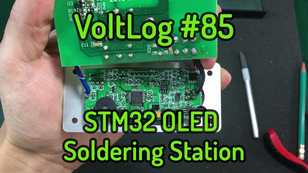 voltlog 85 stm32 oled t12 soldering station youtube rh youtube com