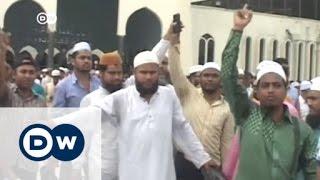 صدامات عنيفة في دكا احتجاجاً على إعدام نظامي | الأخبار