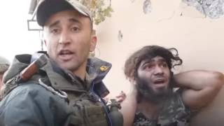 Взятие в плен боевика ИГИЛ Натуральный Черт!!!