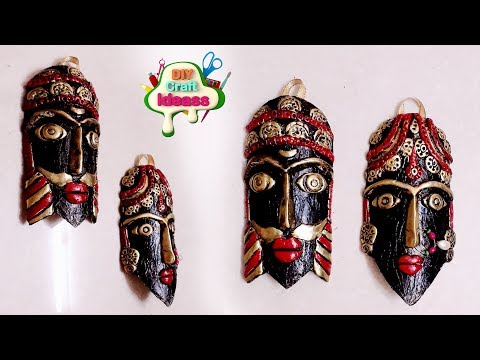Tribal mask diy ideas | waste plastic bottle craft | best out of waste