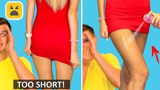 GIRLY PROBLEMS! CLOTHES HACKS | Fashion DIY Ideas