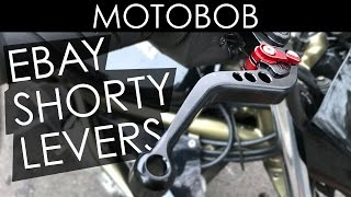 Cheap Chinese eBay CNC Shorty Motorcycle Levers Review & Installation