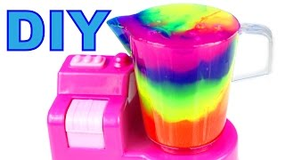 Slime Jelly Clay Blender Rainbow Cocktail DIY Slime Learn Colors Kids