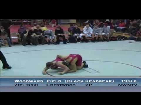 195lb Match - Woodward (Field) vs Zielinski (Crestwood)