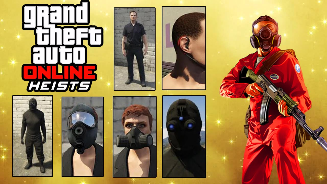 GTA 5 Heist - All Masks u0026 Outfits For Heist - GTA Online Heists Clothing u0026 Accessories - YouTube