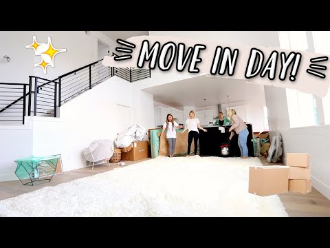 IT'S MOVE IN DAY! UNPACKING OUR NEW HOUSE!