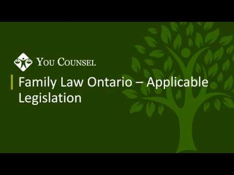 Part 1: Family Law Ontario - Applicable Legislation