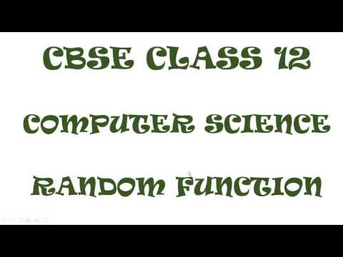Random Function Solving Tips || CBSE Class 12 || Output Problem