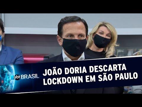 Doria Descarta Possibilidade De Decretar Lockdown No Estado De São Paulo | SBT Brasil (26/05/20)