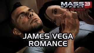 Mass Effect 3 Citadel DLC: James Vega Romance (All scenes)