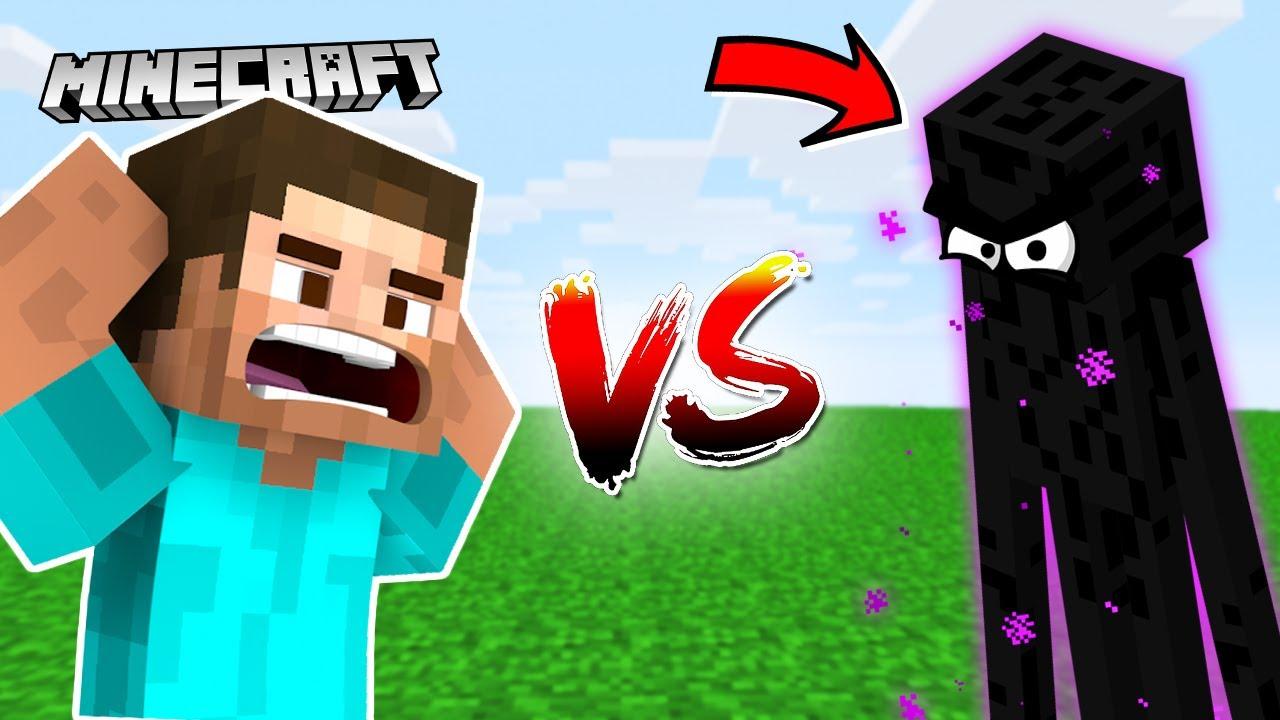 I Fought ENDERMAN & It was a Bad Idea   Minecraft Part 2