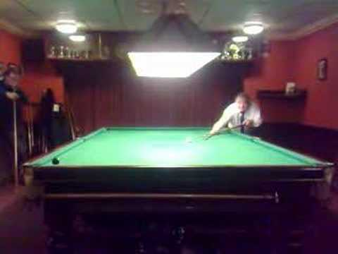 Irby Club - Alf's black ball finish for 147 break