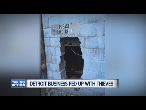 Detroit business fed up with thieves