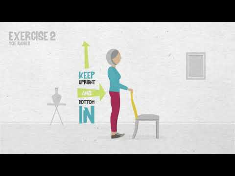 Falls prevention exercises - Older People's Day