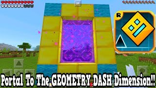 Minecraft Pe - Portal To The Geometry Dash Dimension - Mcpe Portal To The Geometry Dash!!!
