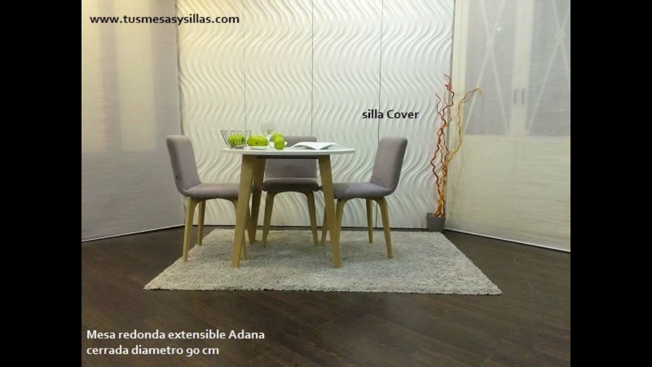 Mesa redonda extensible 3 metros Adana para cocina o comedor de estilo  nordico