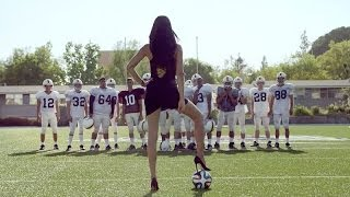 "Supermodel Adriana Lima shows Americans what ""Football"" is in her country"