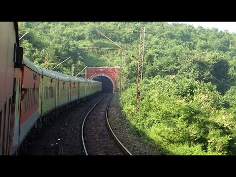 INDIAN RAILWAYS : Curves Hills Tunnels New Delhi Sealdah AC Duronto Express