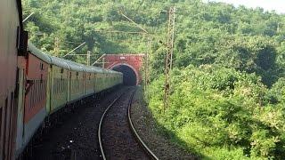 INDIAN RAILWAYS : Curves Hills Tunnels New Delhi Sealdah AC Duronto Express