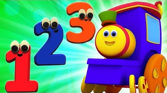 Bob Nummer Zug | 1 bis 10 | Zahlen für Kinder | Bob The Train | Numbers 1 To 10 | Count Numbers