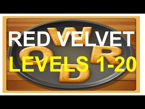 Word Cookies Red Velvet Levels 1-20 Plus Special Level Answers