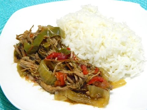 Slow Cooker Cuban Ropa Vieja or Cuban shredded Beef