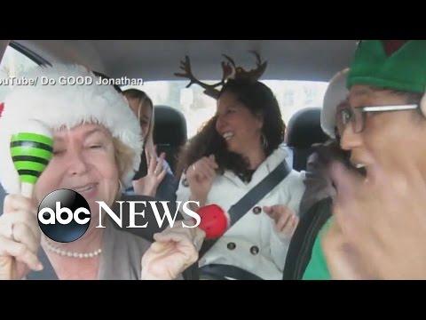 Uber Driver Turns Commute into Christmas-Themed 'Carpool Karaoke'