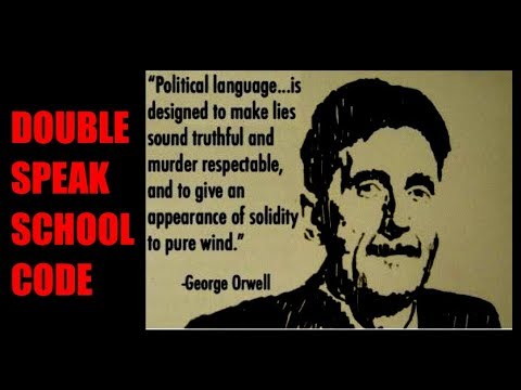 Universal Values Doublespeak from Public School's Student Code of Conduct