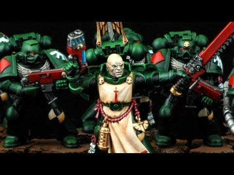 How to paint Dark Angels Tactical Squad? Dark Vengeance Warhammer 40k Airbrush Buypainted