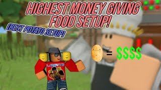 {Roblox] Food Empire: HIGHEST MONEY GIVING FOOD SETUP (BEST POTATO SETUP)