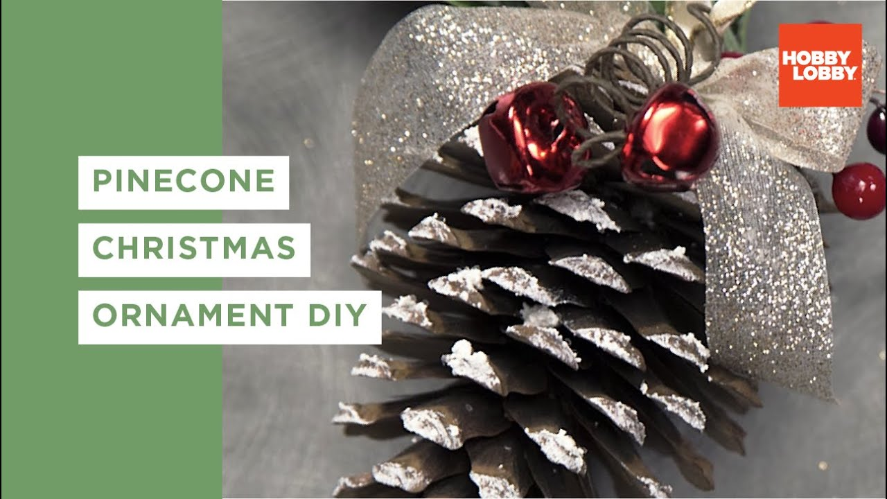 diy pinecone ornament youtube - Pine Cone Christmas Tree Decorations