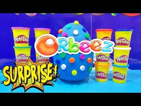 ORBEEZ GIANT EGG Play Doh Surprise Opening 50 + Surprise Toys Video Gigante Huevo Sorpresa