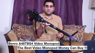 Benro A48TBS4 Video monopod, unboxing, review and sample footage