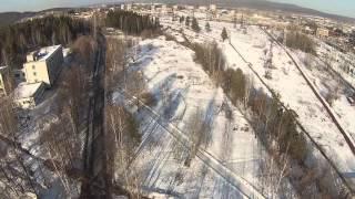 НТ ГРЭС DJI Phantom 2 полет с подвесом (ТЕСТ)