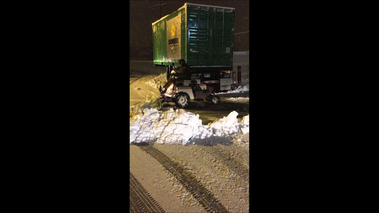 Grasshopper Snow Plow Sidewalks