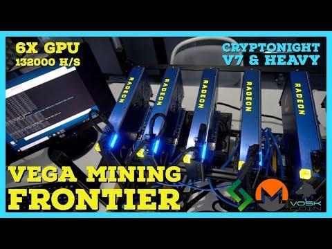 6x Vega Frontier FE Mining Rig W/ PCIE Risers - 13200 H/s Cryptonightv7 + Cryptonight Heavy